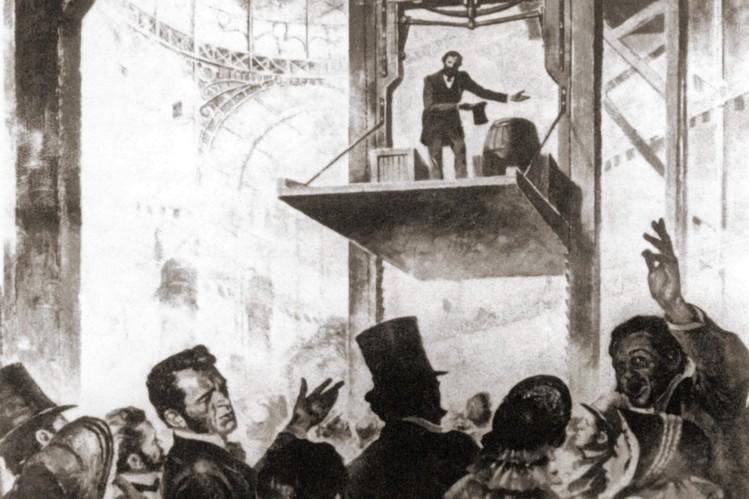 otis lift - История пассажирских лифтов
